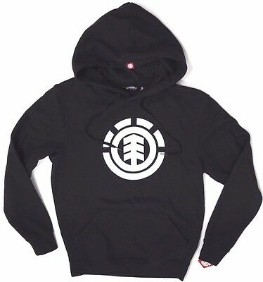 Men's Element Tree Black Pullover Jumper / Hoodie, Size S. NWT, RRP $79.99.