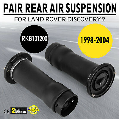 Land Rover Discovery 2 New Rear Air Suspension Spring Bags X2, Rkb101200 (98-04)