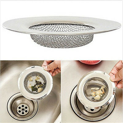 Stainless Steel Mesh Sink Strainer Drain Stopper Kitchen Filter Bath Hair Trap A