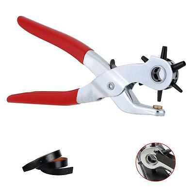 """9"""" 6 Sized Heavy Duty Leather Hole Punch Hand Pliers Belt Holes Punches"""