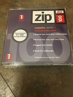 Iomega Zip 100 Disk IBM Formatted 10 Pk Discont By Mfg