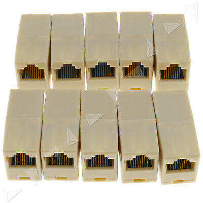 10xRJ45 Coupler Connector Joiner Extender For Cat 5e Lan Ethernet Network Cable