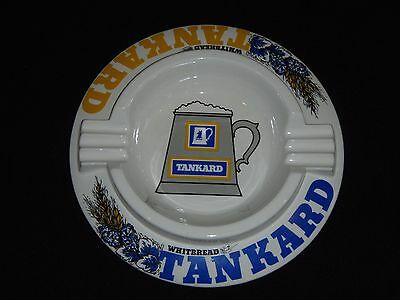 "Whitbread Tankard Beer - Vintage Pub Ashtray - England - Large 9"" Size"