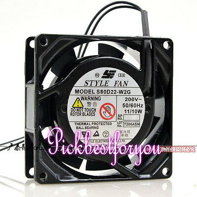 STYLE S80D22-W2G High temperature Cabinet cooling fan 220V 11/10W 2wire #MH51 QL