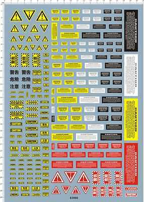 decals Warning tag CAUTION DANGER for model kits (63900)