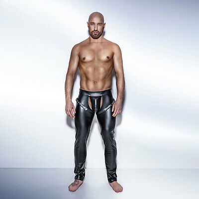 NOIR Handmade - UNCHAINED - H042- POWERWETLOOK Easy Access Long Pants w/ Harness