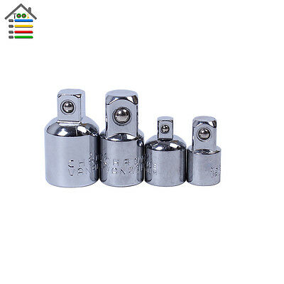 "4pc Female to Male Socket Adapter Reducer 1/2"" 1/4"" 3/8"" Ratchet Drive Converter"