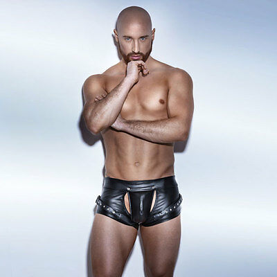 NOIR Handmade  UNCHAINED H050 - POWERWETLOOK Easy Access Shorts with Harness