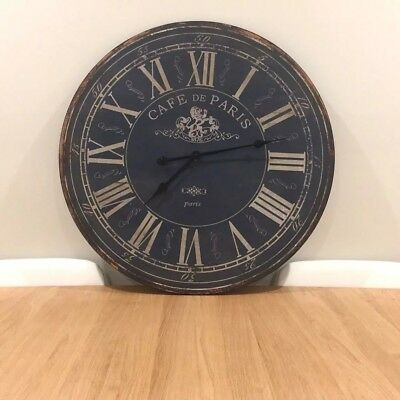 70CM Large Rustic Wall Clock/French Provincial Meets Industrial