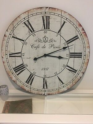 Large 70CM Rustic Wall Clock Home Decor/French Provincial