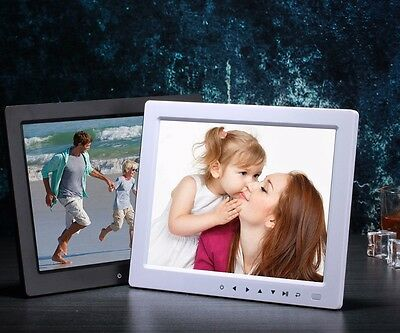"10"" Touch Button LCD Digital Photo Frame with Multimedia Playback Birthday Gift"
