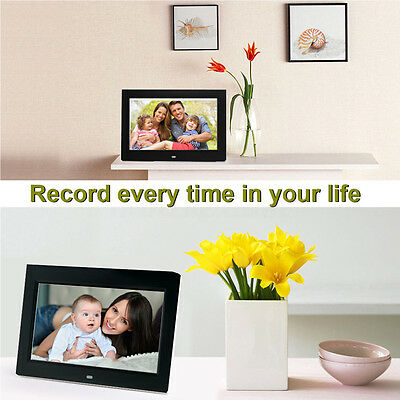 """15"""" 1080p HD LCD Digital Photo Frame Picture MP4 Movie Player Remote Control m"""