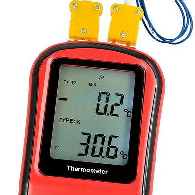 GM1312 -50~300C Thermocouple Thermometer Dual-channel Digital Temperature Meter