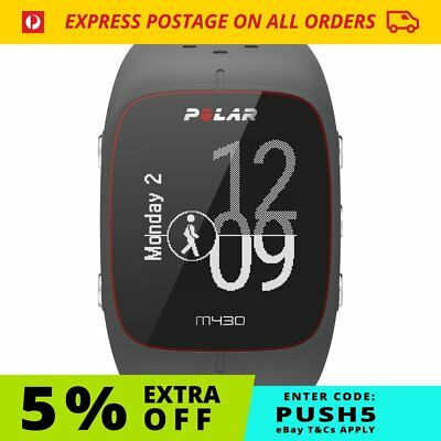 Polar M430 GPS Watch Black / Grey Wrist HR Fitness | NEW FREE Postage