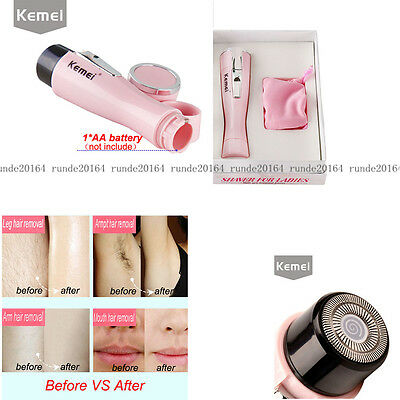 KEMEI Electric Women Facial Shaver Finishing Touch Flawless Hair Remover Trimmer