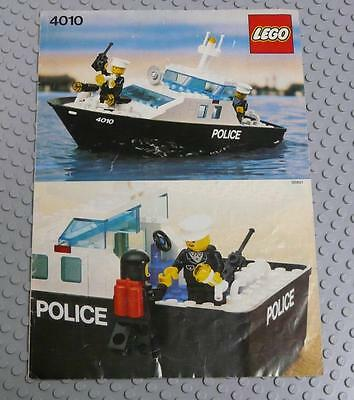 LEGO INSTRUCTIONS MANUAL BOOK ONLY 4010 Police Rescue Boat  x1PC