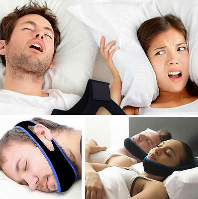 Snore Stop Anti Nasal Dilator Apnea Aid Device Snoring Chin Strap Belt Sleep Jaw