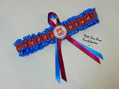 Football Lace bridal wedding garter. ANY TEAM. something blue. the hammers
