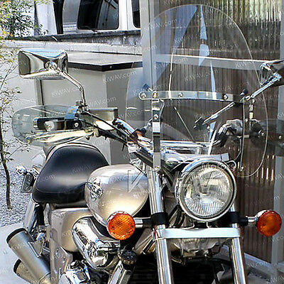 """KiWAV 16""""x18"""" clear windshield screen for Harley Softail with Mounting kit α"""