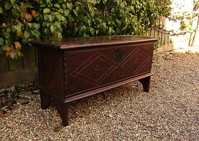 Charles II (c.1670) Oak Boarded Chest. English.