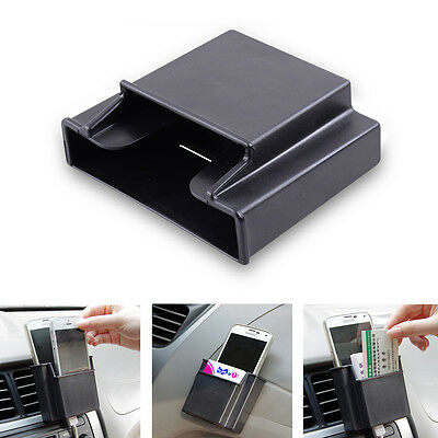Double Layer Car Phone Cell Mobile Card CD SLOT Key Holder Storage Box Pockets