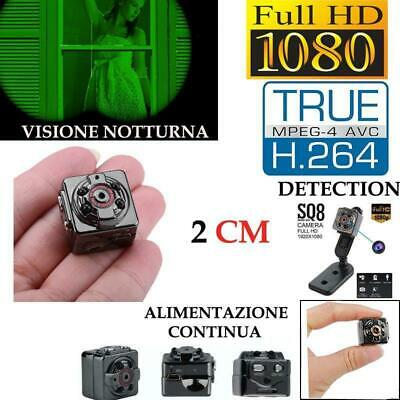 Mini telecamera spia micro camera nascosta Full HD Auto Car SQ8 spy cam video