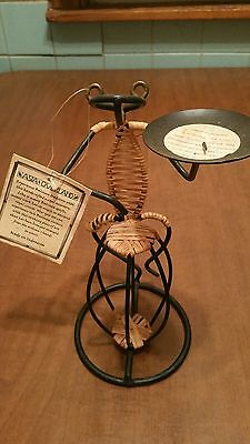 AUTHENTIC:  WIRE AND BAMBOO FROG SCUPTURE / ** Holiday Special **