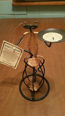 Authentic: Asian Overland /  Wire And Bamboo Frog Scupture