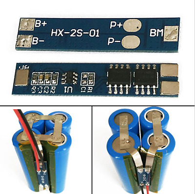 2S 5A Li-ion Lithium Battery 18650 Charger Protection Board Pad Module 7.4V 8.4V