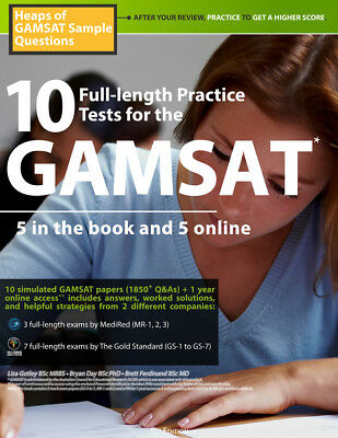10 GAMSAT Full-length Practice Tests 2019-2020 Edition Mock Exams