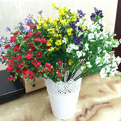 Artificial Potted Plant Home Outdoor Decor-7 Fork 14 Grass 42 Flowers