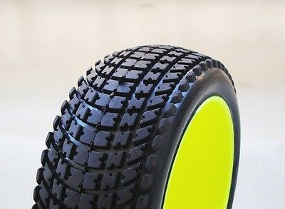 """Gomme 1/8 Tires BUGGY SP RACING  """"VELOCIRAPTOR"""" SPORT incollate  cod.  SP00030"""