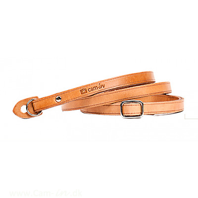 Adjustable Leather Camera Strap with ring connection by Cam-in - Tan