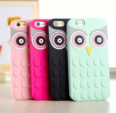 Soft Silicone Owl Case Cover For iPhone 6S Plus 7 8 SE Samsung Galaxy S6 S7 Edge