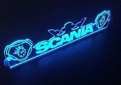 24V Blue LED Cabin Interior Light Plate for Scania Griffin Crown Truck Neon Sign
