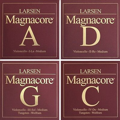 Larsen MAGNACORE 4/4 Cello Strings SET in Strength medium, strong, MIX 1, Mix 2