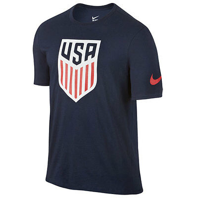 Nike Men's 2016 USA Crest Soccer Small T-Shirt 742173 Size S (Navy 451) NWT