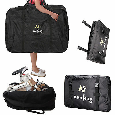 26'' Folding Bike Transportation Bag Carrier Storage 600D Waterproof Black