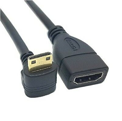 Mini Hdmi Macho Codo 90 Grados A Hdmi Hembra Cable Adaptador 1080P Tablet Pc