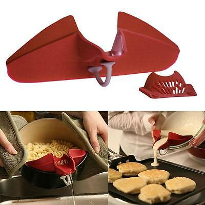 Silicone Soup Funnel Kitchen Gadget Tools Water Deflector Cooking Tool New