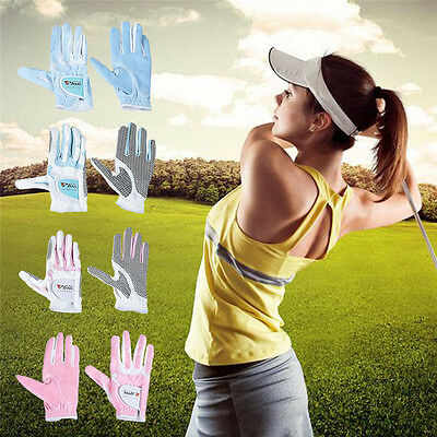 GOLF GLOVES PERMASOFT FULL CABRETTA LEATHER PALM ALL SIZES WOMENS Right Hands