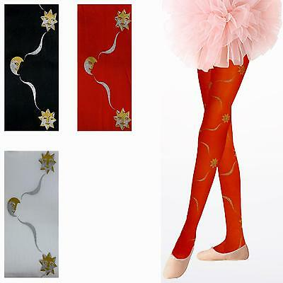 3 Pairs Of Girls Lovely Shooting Star Opaque Tights