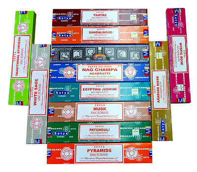 Satya Nag Champa Aroma Mix Variety Fragrance Incense Joss Sticks