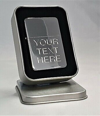 Engraved Silver Personalised Lighter - Star Petrol boxed birthday christmas gift