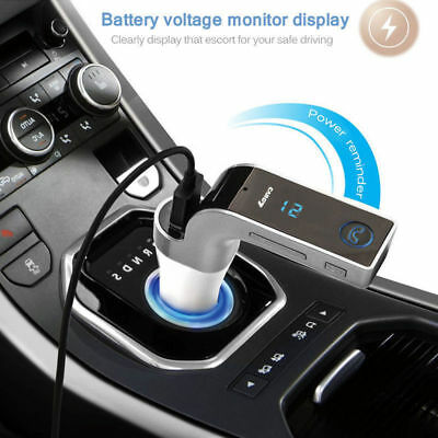 USB Car Bluetooth FM Transmitter Wireless Radio Adapter Charger MP3 Player New
