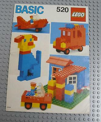 LEGO INSTRUCTIONS MANUAL BOOK ONLY 520 Basic  x1PC