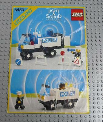 LEGO INSTRUCTIONS MANUAL BOOK ONLY 6450 Mobile Police Truck  x1PC