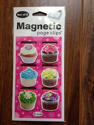 Cupcake Fun Magnetic Page Clips Set of 6 by Re-Marks - 9780594197515