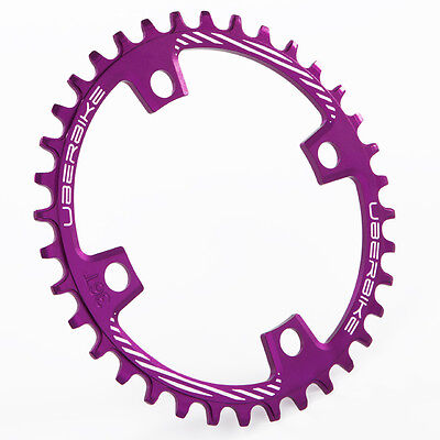 Uberbike Made In Sheffield 96mm BCD Narrow Wide Single Chainring 32 Tooth