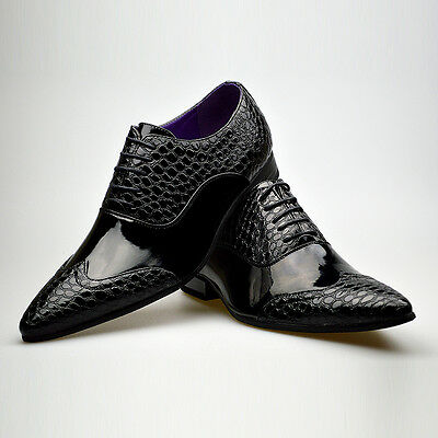 Mens New Casual Black Smart Formal Wedding Lace Up Party Shoes High Quality Boys